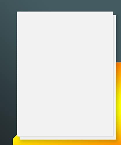 iLable 8.5' x 11' Full Sheet Sticker Paper for Laser & Inkjet Printers[100...
