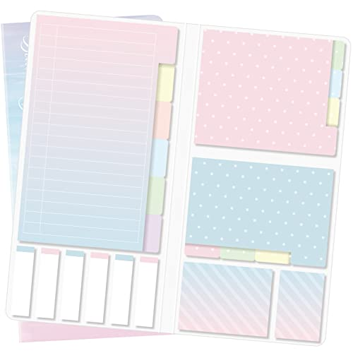 Sticky Notes Set, Hommie Sticky Notes Tabs Color Pads Bundle with Bookmark...