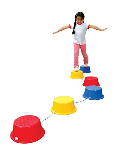 School Smart Stepping Buckets Balance Builders - 5 x 12 inch - Set of 6 - 2...