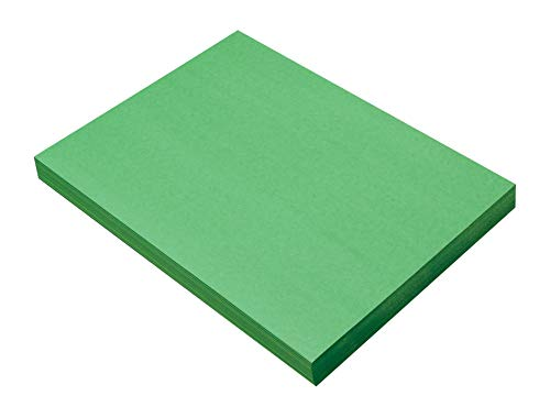 SunWorks Heavyweight Construction Paper, 9 x 12 Inches, Holiday Green, 100...