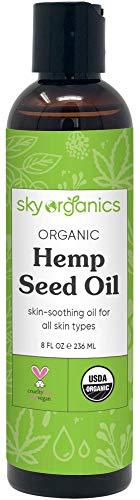 Organic Hemp Seed Oil by Sky Organics (8 oz) Cold-Pressed USDA Organic 100%...