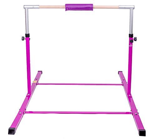 Junior Gymnastics Kip Bar - Ultra Stable Design - Bonus Leg Extenders and...