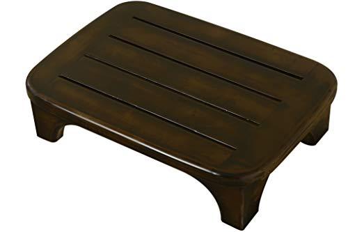 URFORESTIC Solid Wood Bed Step Stool Super Large/Bedside Steps for High...