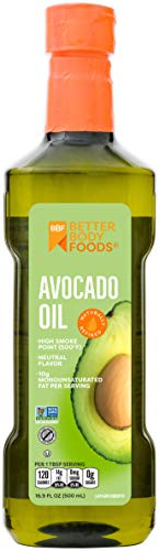 BetterBody Foods Avocado Oil, Refined Non-GMO Cooking Oil for Paleo and...