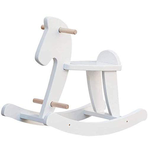 labebe - Wooden Rocking Horse, Baby Wood Ride On Toys for 18 Months Up,...