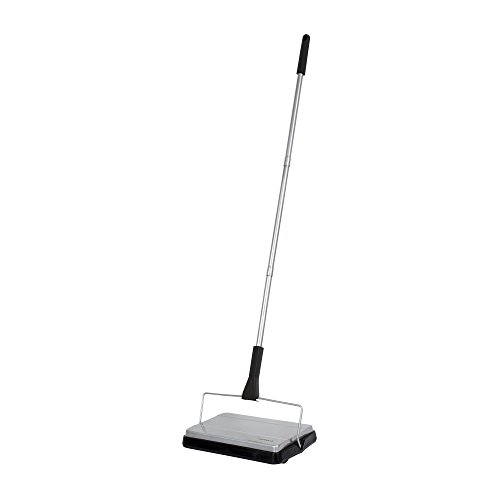 Casabella Compact Carpet Sweeper, Silver and Black, Boxed