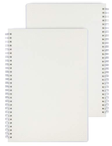 Miliko Transparent Hardcover A5 Size Dot Grid Wirebound/Spiral Notebook-2...