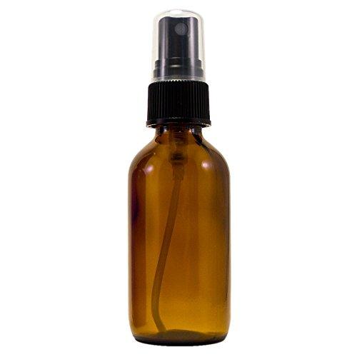 2 oz Amber Boston Round Glass Bottle with Fine Mist sprayer 6/bx