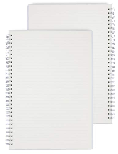 Miliko Transparent Hardcover A5 Ruled Wirebound/Spiral Notebook/Journal...