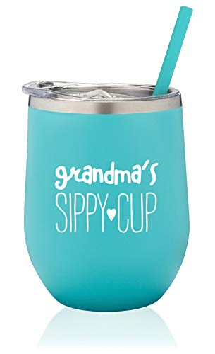 SassyCups Grandma's Sippy Cup Wine Tumbler   Insulated Stainless Steel...