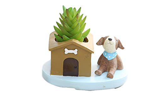 Cute Resin Animal House Dog Meaty Pot by SWONVI, Succulent Pots with...
