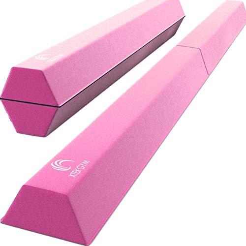 XTEK Gym 8ft Pro Foldable Balance Beam, Extra Long Floor Gymnastics Beam |...