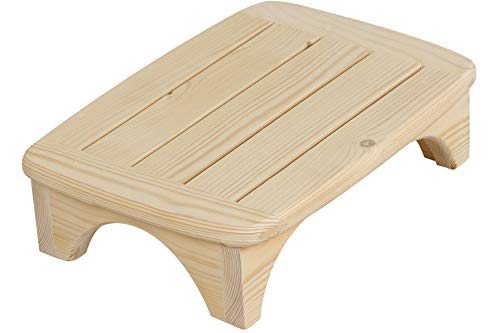 Solid Wood Bed Step Stool Super Large/ Bedside Steps For High Beds/Solid...