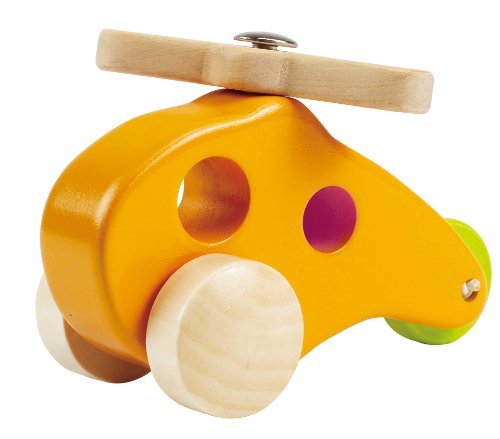 Hape Little Copter Wooden Toy Toddler Play Vehicle, L: 5, W: 2.6, H: 3.5...