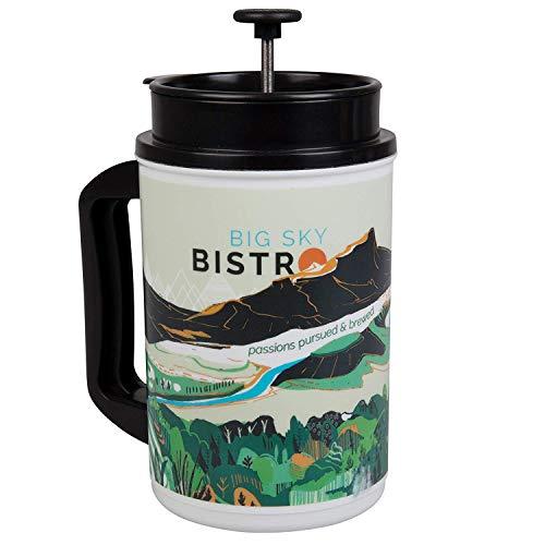 Planetary Design Big Sky Bistro French Press Travel Coffee Mug - Brew the...