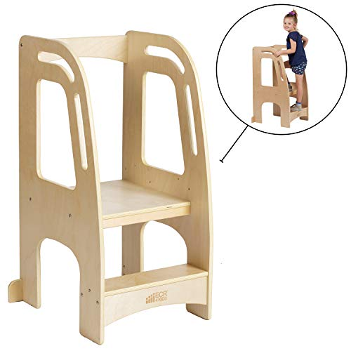 ECR4Kids Chef's Helper Kitchen Tower-Wooden Toddler Two-Step Learning...