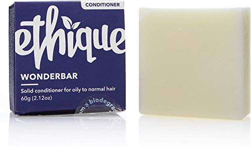 Ethique Conditioner Bar for Oily to Normal Hair, Wonderbar - Sustainable...