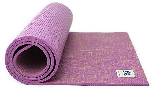LOTTUS LIFE Natural Eco Jute Fiber Premium Yoga & Exercise Mat w/strap -...