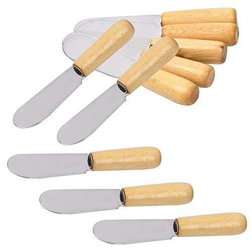 Wood Handle Butter Spreader, 4 Inch, SourceTon Sandwich Cream Cheese...