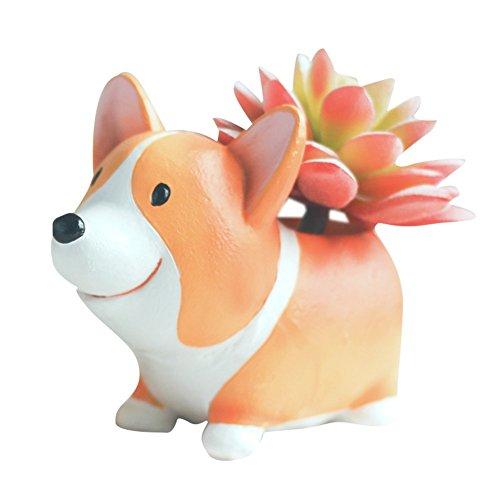 Corgi Flower Pot, Cute Plant Pots Animal Planter Cartoon Dog Shaped...