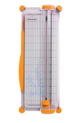 Fiskars SureCut Portable Paper Trimmer, 12 Inch Cut , Orange - 154450-1009