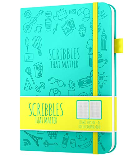 A5 Dotted Journal by Scribbles That Matter - Bullet Dot Grid Notebook - No...