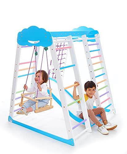 Indoor Playground Toddler Climber Slide – Kids Jungle Gym Playset –...