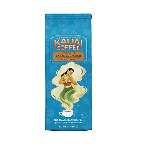 Kauai Hawaiian Ground Coffee, Coconut Caramel Crunch Flavor (10 oz Bag) -...