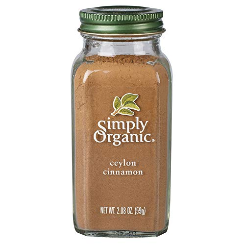 Simply Organic Ground Ceylon Cinnamon, Certified Organic, Vegan | 2.08...