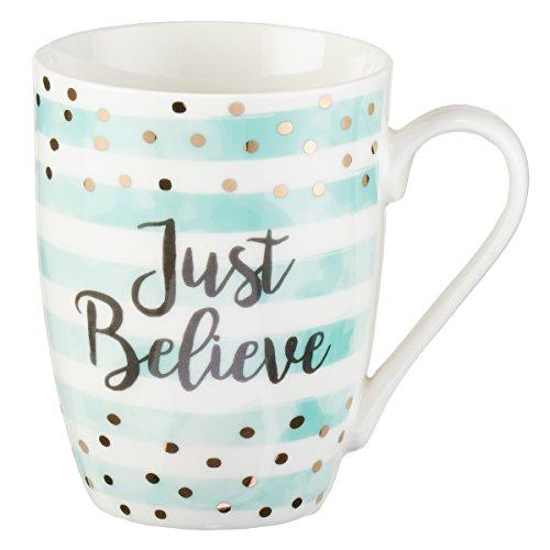 Cute Inspirational Coffee/Tea Mug for Women   Just Believe Motivational Mug...