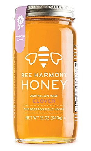 Bee Harmony American Raw Clover Honey, 12 Ounce