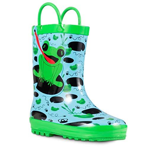 ZOOGS Children's Rubber Rain Boots, Little Kids & Toddler, Boys & Girls...