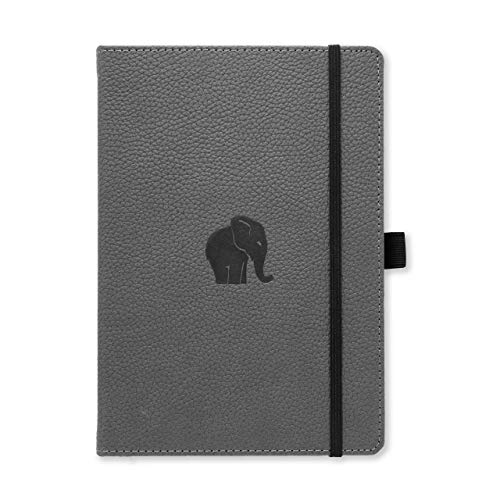 Dingbats Wildlife Dotted Hardcover Notebook - PU Leather, Perforated 100gsm...