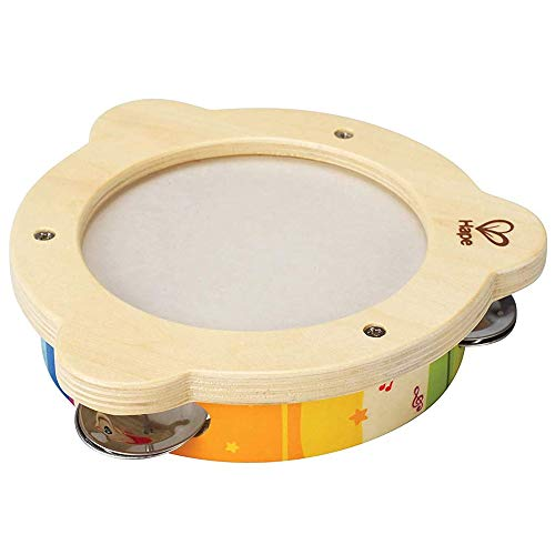 Hape Tab Along Mr. Tambourine | Kid's Wooden Drum Musical Instrument