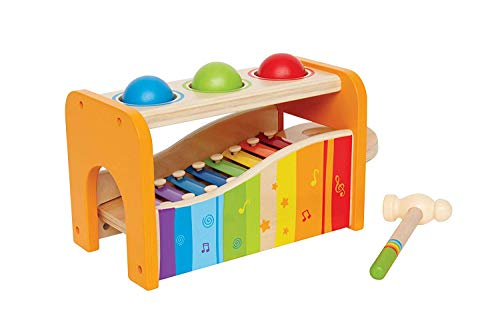 Hape Pound & Tap Bench with Slide Out Xylophone - Award Winning Durable...