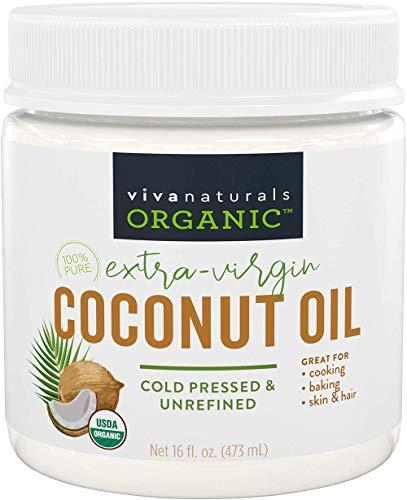 Organic Coconut Oil - Unrefined, Cold-Pressed Extra Virgin Coconut Oil,...