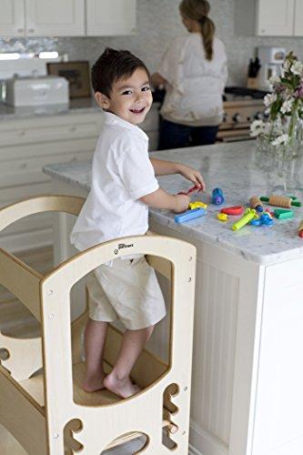 Little Partners Kids Learning Tower Child Kitchen Stool Helper Adjustable...