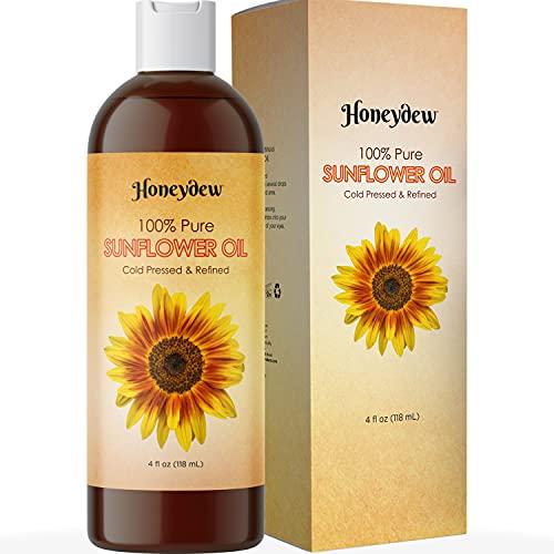 Sunflower Oil Anti Aging Moisturizer - Sunflower Seed Oil for Massage Oils...