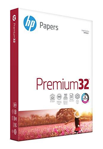 HP Printer Paper 8.5x11 Premium 32 lb 1 Pack 250 Sheets 100 Bright Made in...