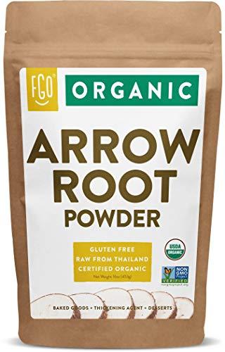 Organic Arrowroot Powder (Flour) | 16oz Resealable Kraft Bag (1lb) | 100%...