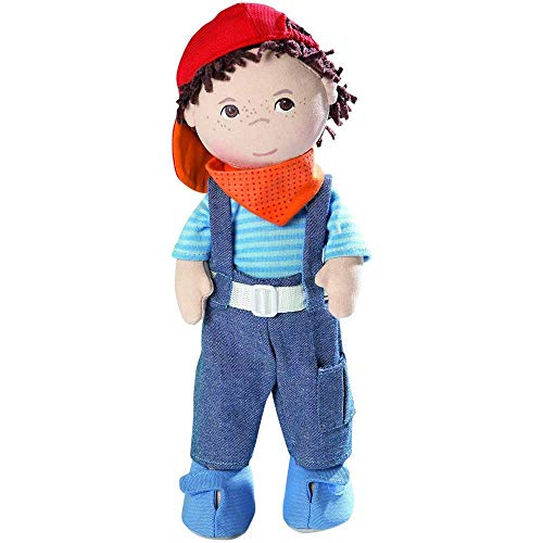 """HABA Graham 12"""" Soft Boy Doll with Brown Hair, Brown Eyes Removable..."""