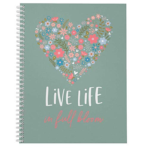 """Softcover Life In Full Bloom 8.5"""" x 11"""" Motivational Spiral..."""