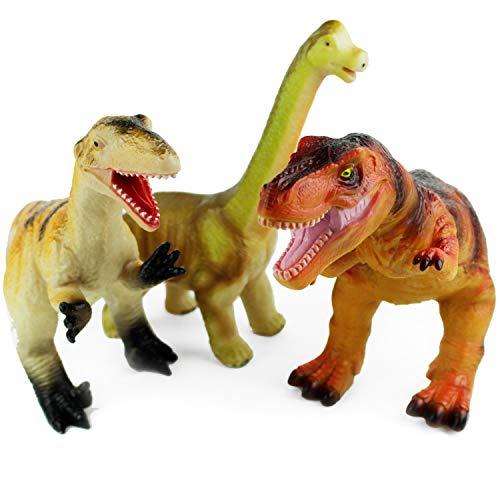 Boley 3 Pack Monster Jumbo 12' Dinosaur Set - Great for Young Kids,...