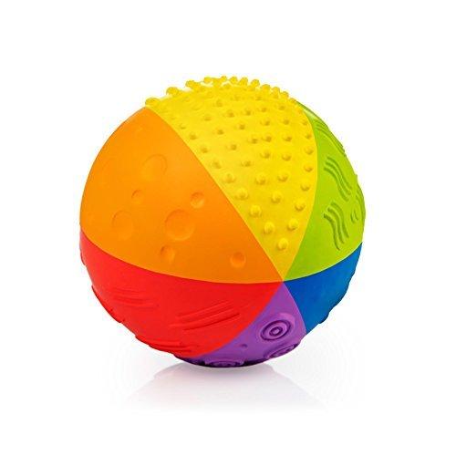 "Pure Natural Rubber Sensory Ball Rainbow 4"" - All Natural Sensory Toy,..."