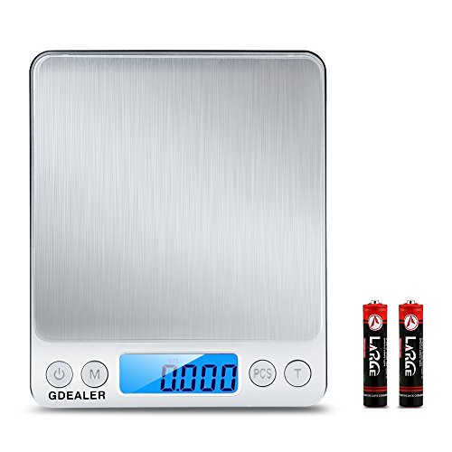 GDEALER DS1 Digital Pocket Kitchen Multifunction Food Scale for Bake...