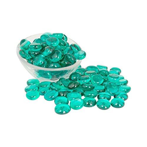 Artisan Supply Teal Glass Gems 1 Lbs. — Fills 1 1/4 Cups Vol....