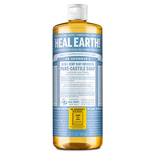 Dr. Bronners - Pure-Castile Liquid Soap (Baby Unscented, 32 Ounce) - Made...