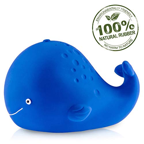 CaaOcho Pure Natural Rubber Baby Bath Toy - Kala The Whale - Without Holes,...