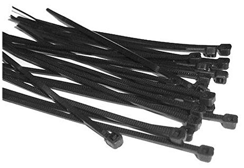 """Black Point Products BE-0106B BLACK Cable Tie Bag (100 Pack), 5.6"""""""