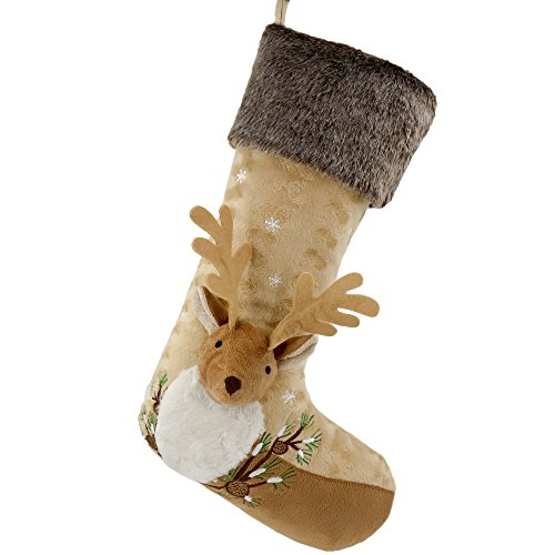 Valery Madelyn 21 inch Woodland Christmas Stockings with 3D Reindeer,...